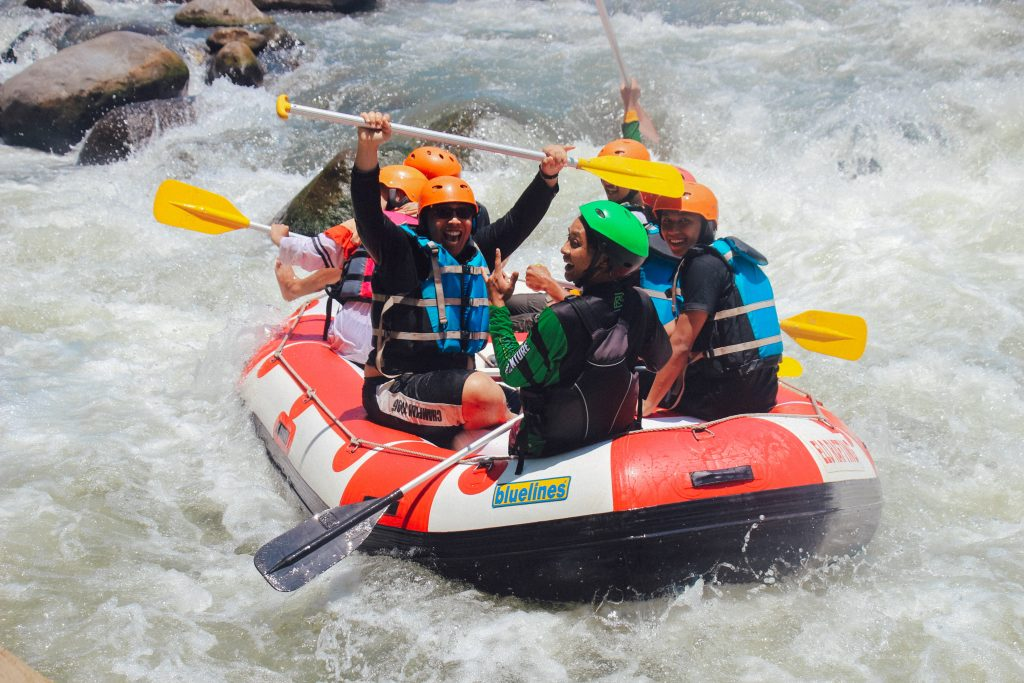 Increasing Sales For Tour Operators, Is Easier In Good Weather. As Shown In The Happy White Water Rafting Experience Completion.